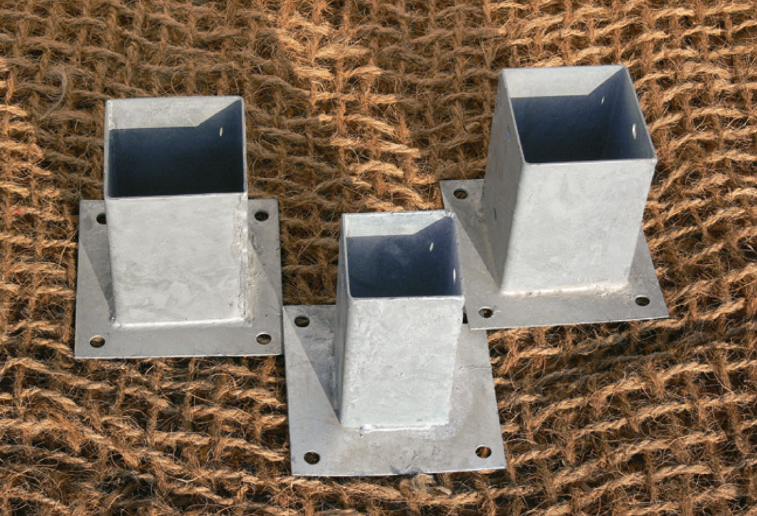 Base met lica para poste cuadrado madering jard pond - Bases para pergolas ...
