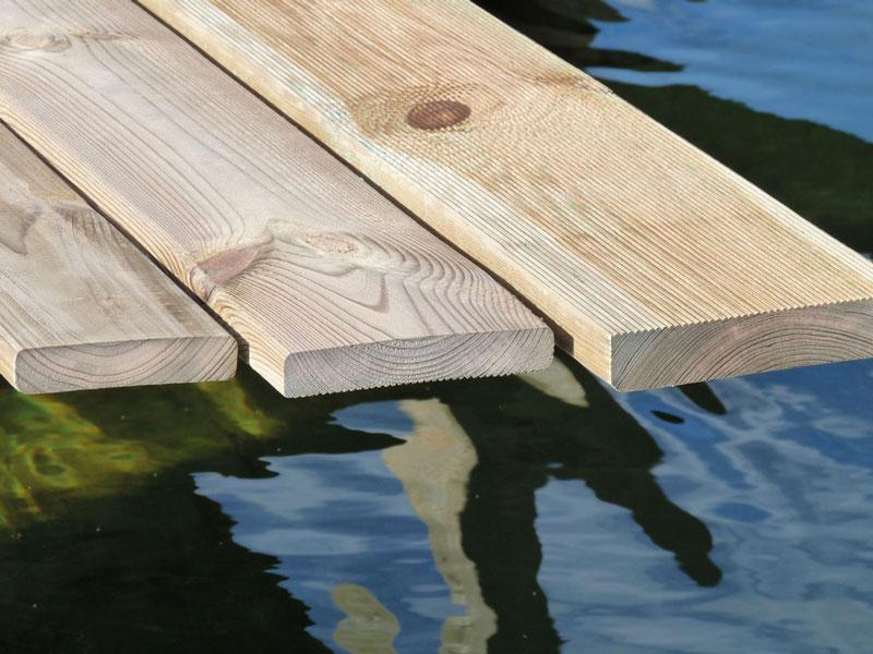Lamas de madera madering jard pond - Madera de pino tratada ...