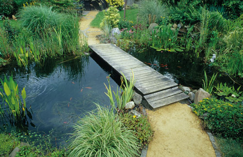 Estanque para plantas y peces con l mina epdm jardi pond for Construir laguna artificial