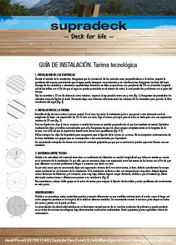 Guía de montaje de Tarima Supradeck