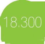 18300 Puntadas /m2