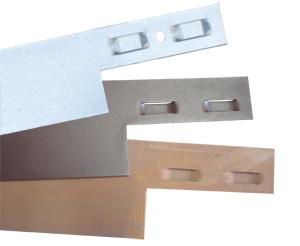 Tres tipos de Borduline. Acero corten, marrón y acero galvanizado