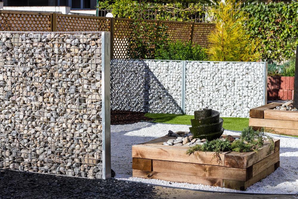gaviones decorativos de piedra paredes medida gavionesinterior gaviones vacios desmontados · Gaviopond extrafino