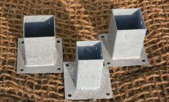 Base metálico poste cuadrado