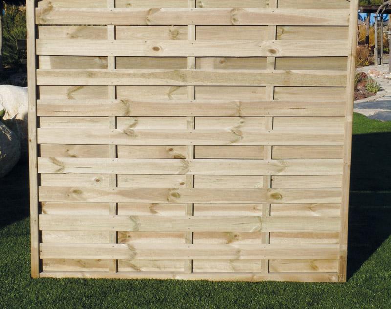 Paneles de madera para jardin finest alfombras para for Celosia madera jardin