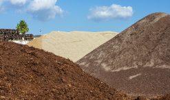 Tierras, arenas y cortezas